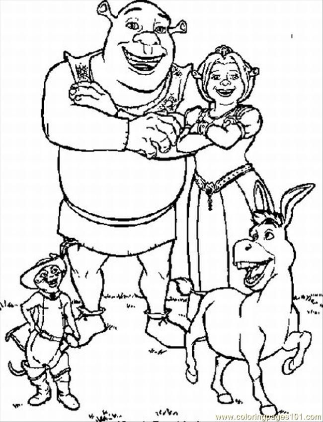 Раскраски из мультфильма шрек 2 (shrek 2)