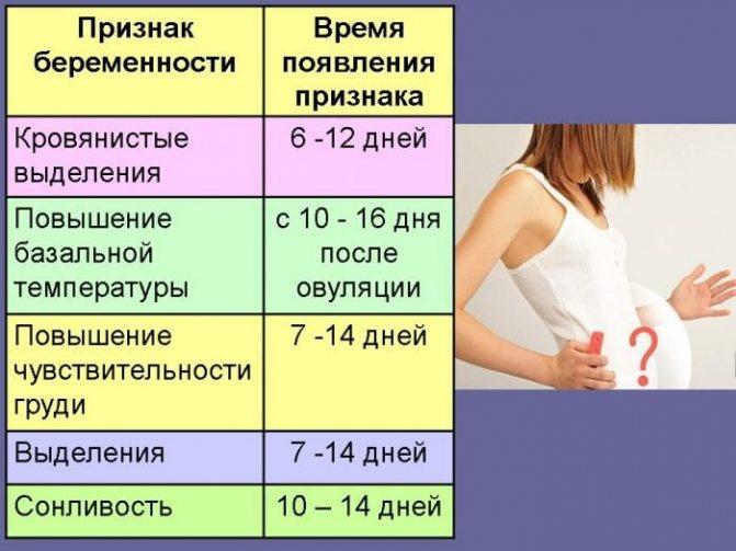 Признаки беременности на ранней стадии - до задержки, первый месяц после зачатия