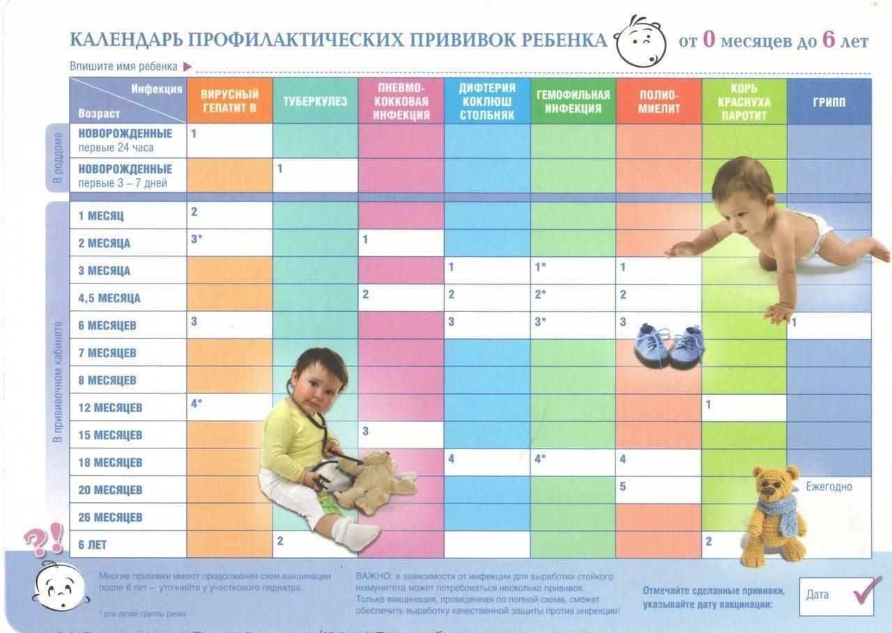 Каких врачей проходят в 6 месяцев с ребенком таблица