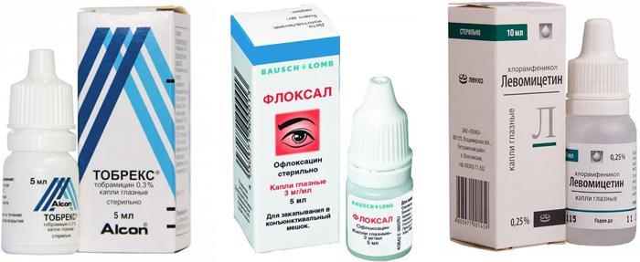 Список из 23 эффективных глазных капель при различных формах конъюнктивита