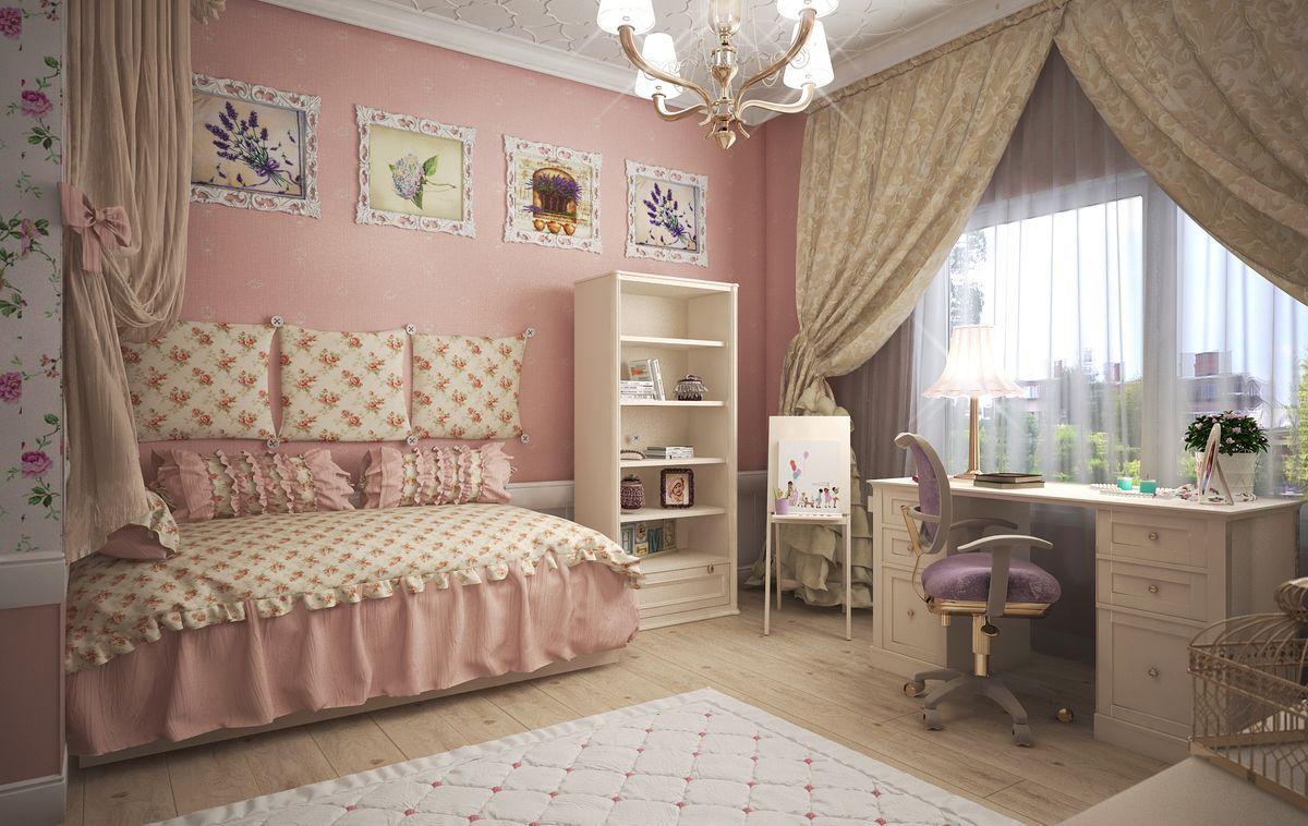 Идеи для оформления детской комнаты девочки в стиле прованс