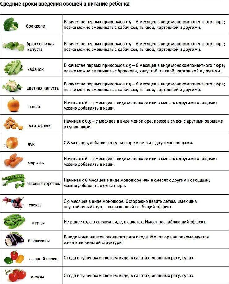 Рецепты и правила употребления детского овощного пюре