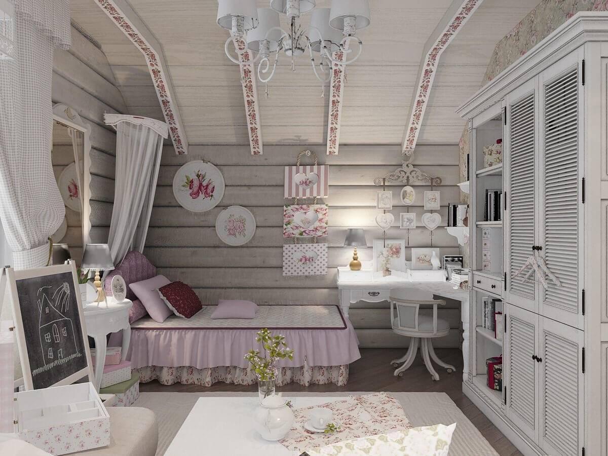 Дизайн комнаты для девочки: стили, цвет, зонирование - 75 фото