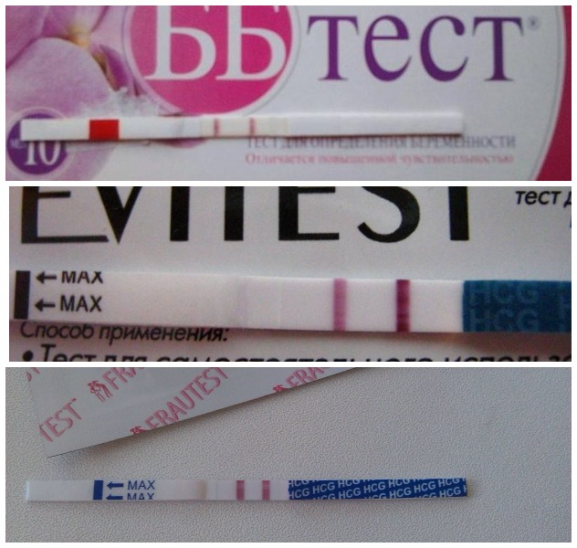 Слабоположительный тест на беременность (5 фото): что означает слабая вторая полоска до задержки? положительный тест с очень бледной полоской