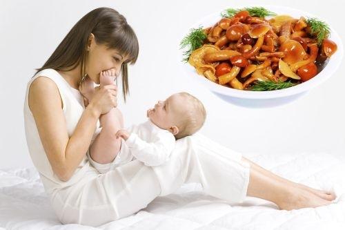 Можно ли шампиньоны кормящим мамочкам