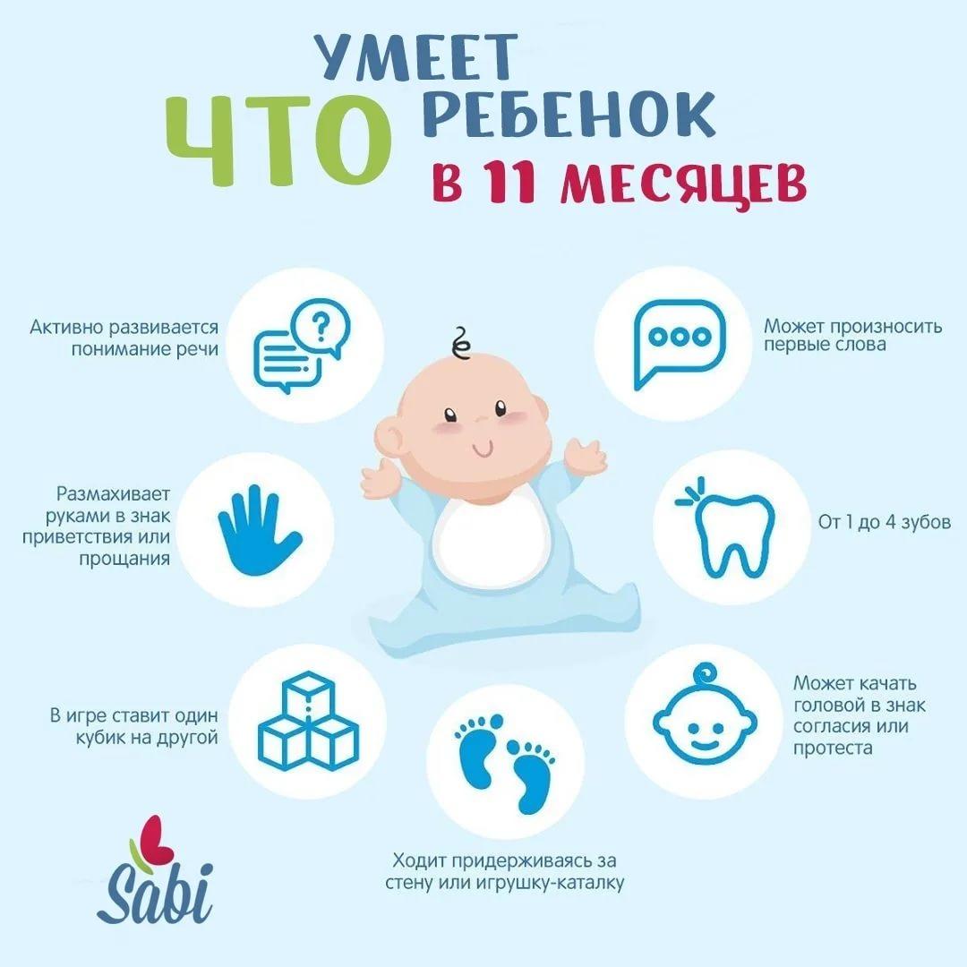 Развитие в 10 месяцев: что должен уметь ребёнок в этом возрасте