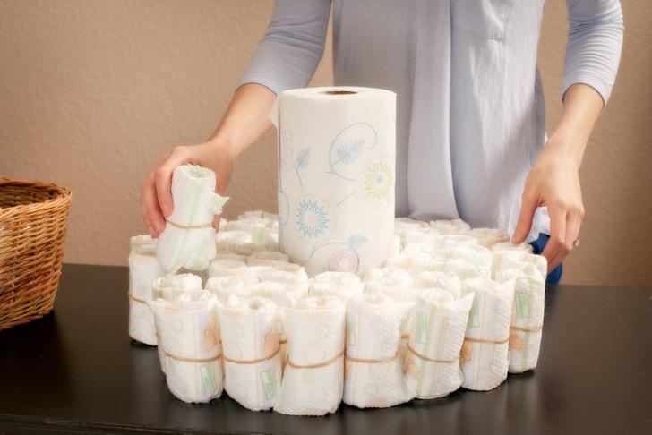 Торт из памперсов для мальчика (49 фото): делаем своими руками подарок из подгузников для новорожденного пошагово