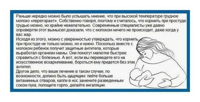 Простуда у кормящих мам: чем можно лечить,  допустимые лекарства и народные средства