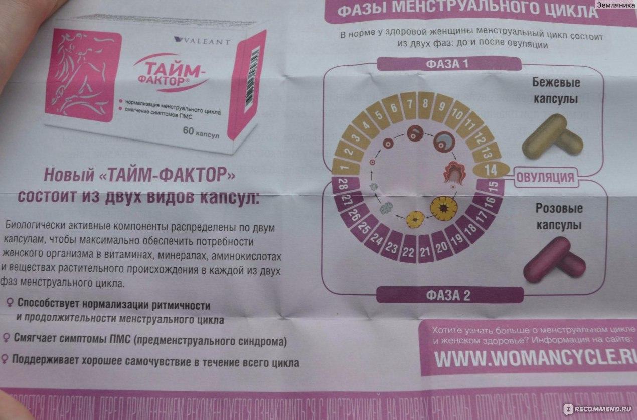 Тайм фактор при планировании беременности: отзывы, инструкция по применению. тайм фактор: как и когда принимать препарат? тайм фактор побочные