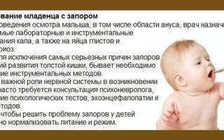 Что делать при запоре у новорожденных на грудном вскармливании