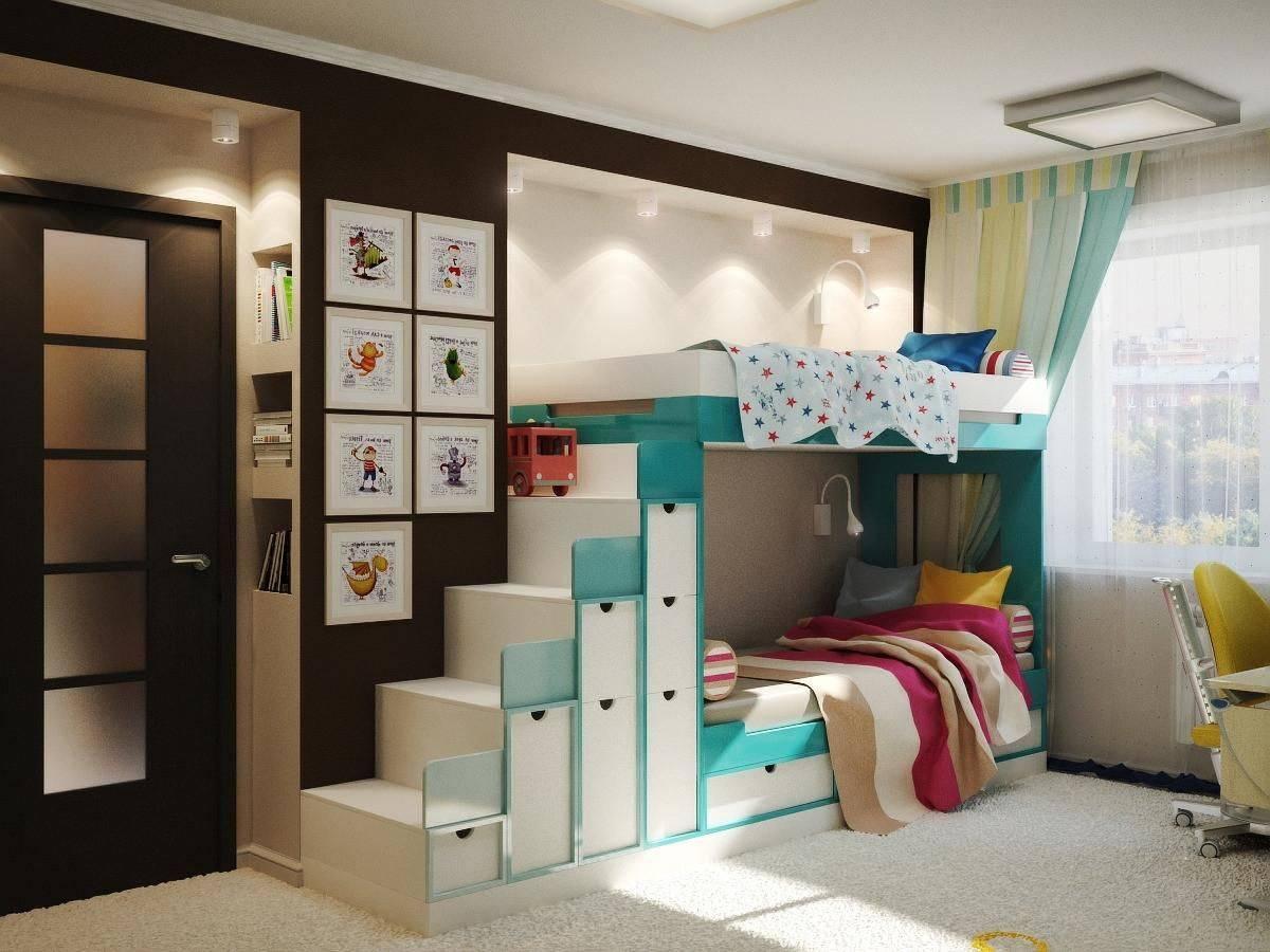 Детская комната для двух детей - фото примеров
