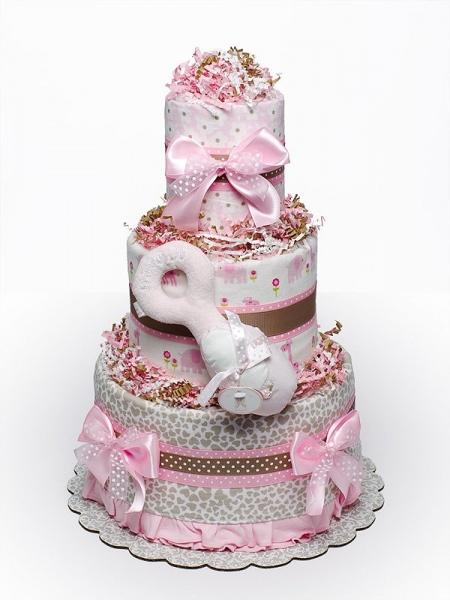 Тортик из памперсов мк - страна мам