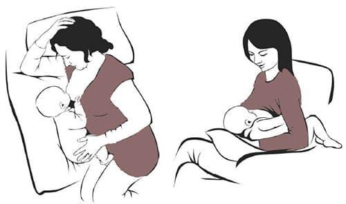 Основные позы для кормления грудничка