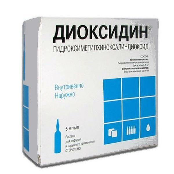 «диоксидин» в нос: показания, действие, применение, эффективность