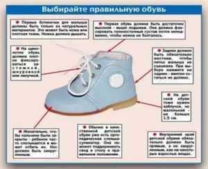 Рекомендации по размерам зимней детской обуви