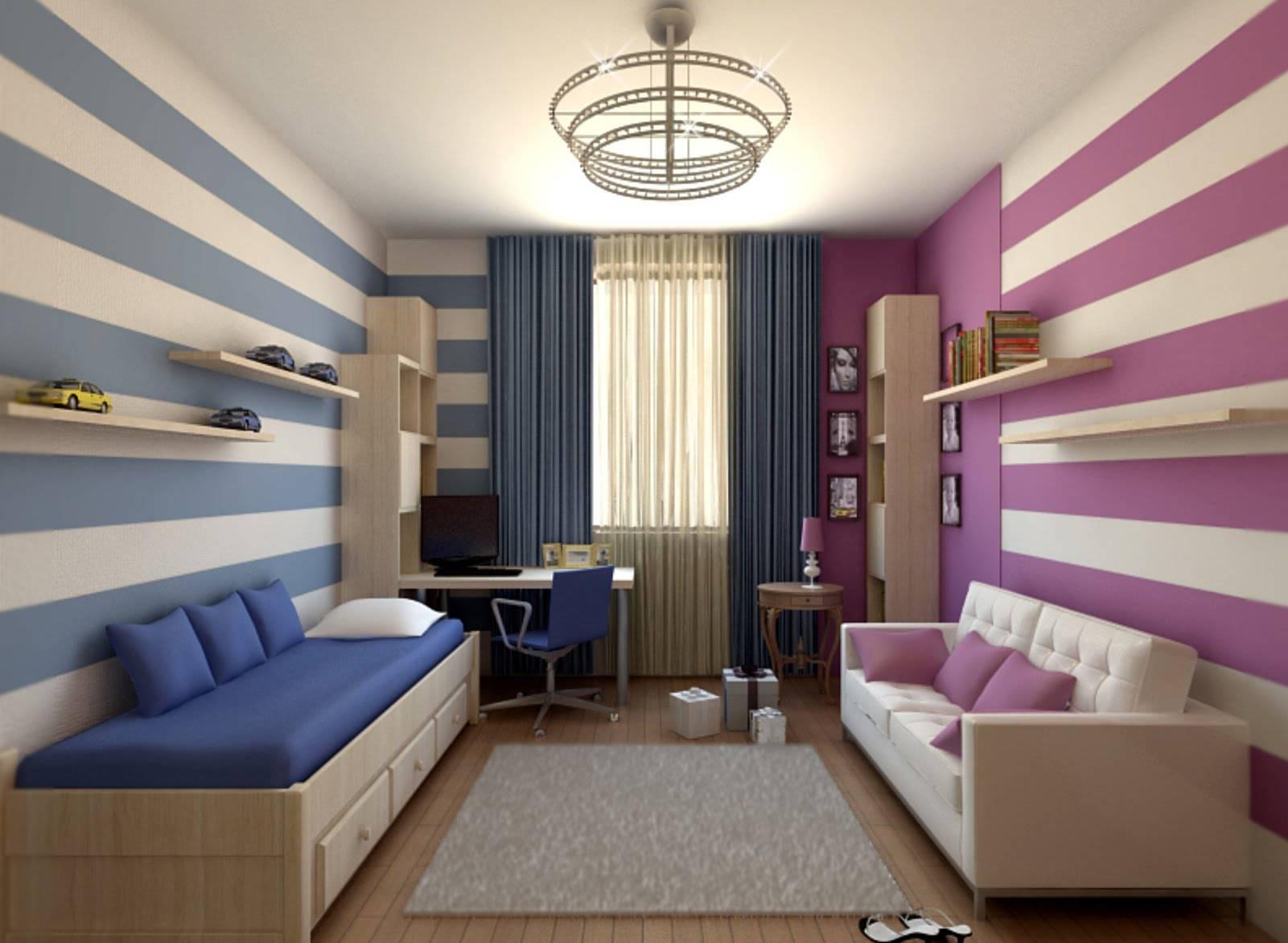 Детская комната 12 кв. м — 75 современных примеров интерьера