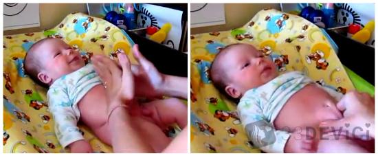 Как делать массаж животика при коликах и запорах у новорожденного - топотушки