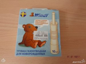Как пользоваться газоотводной трубкой для новорожденных