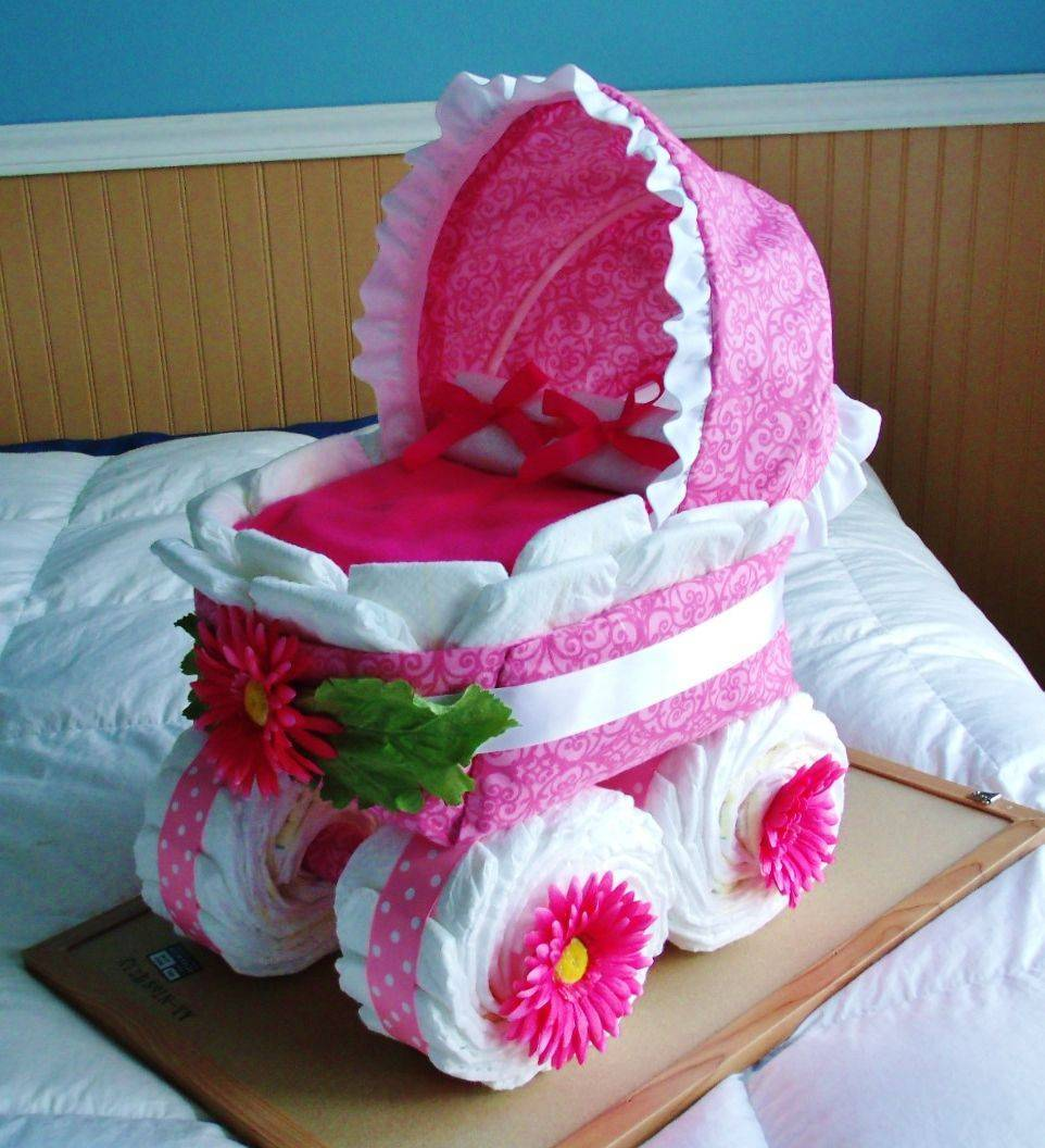 ᐉ коляска памперсов для девочки своими руками. коляска из памперсов своими руками ✅ igrad.su
