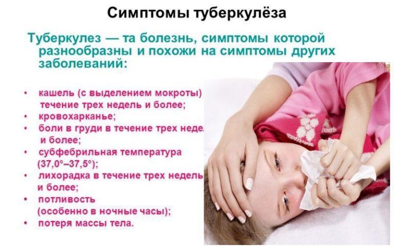 Признаки и симптомы туберкулеза у ребенка