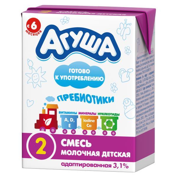 """Кисломолочные и молочные смеси """"Агуша"""" для новорожденных и детей от 6 месяцев: состав, ассортимент"""
