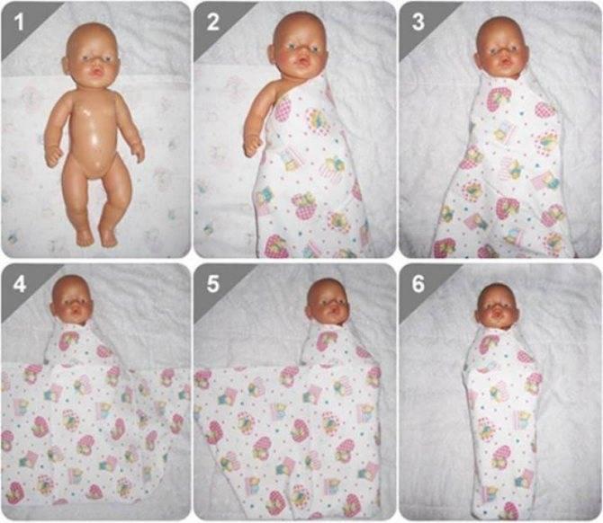 Все о пеленании новорожденных
