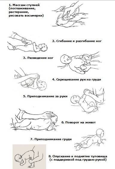 Массаж и гимнастика для ребенка от 3-х до 6-ти месяцев