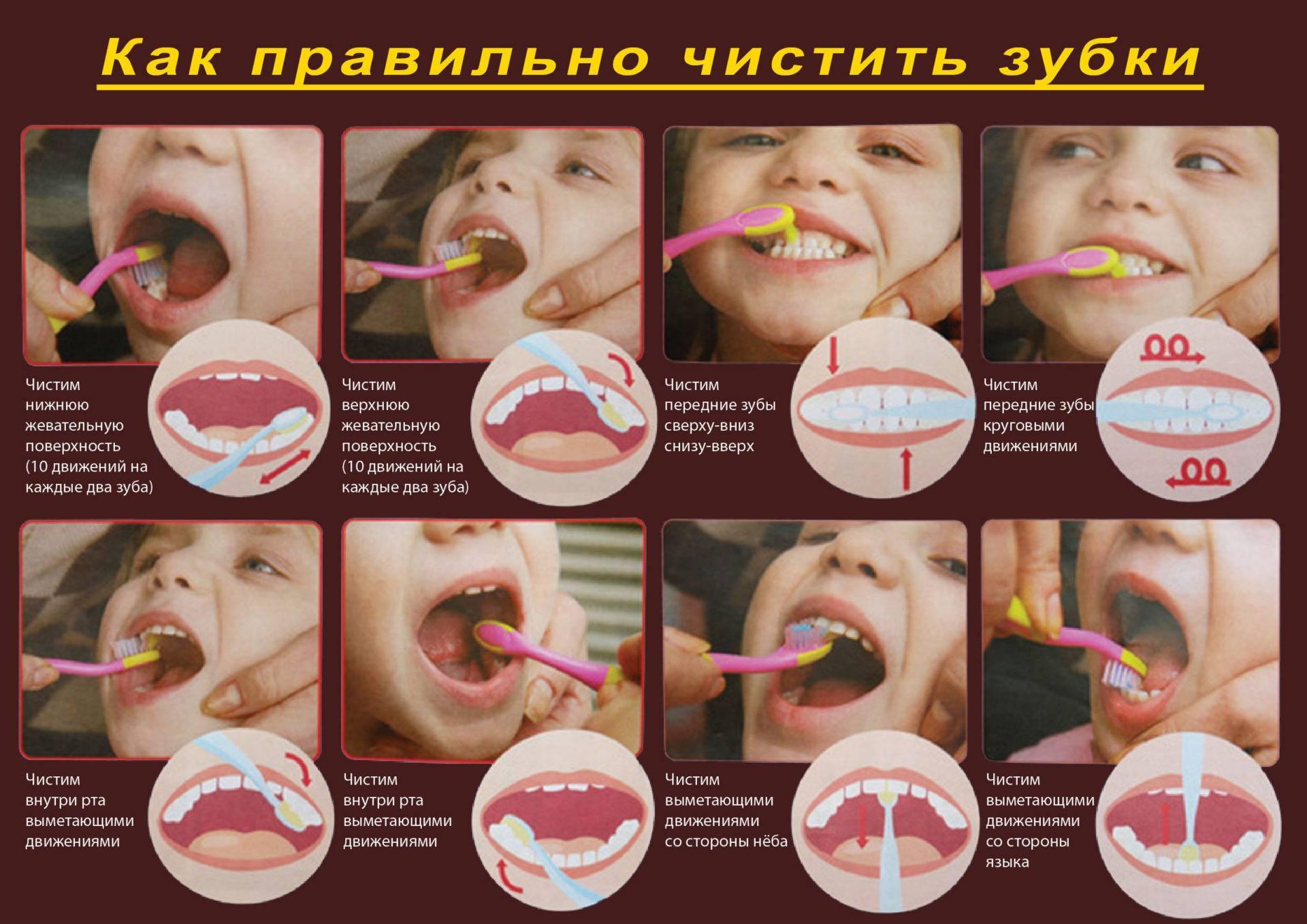 Как правильно чистить зубы детям в разном возрасте