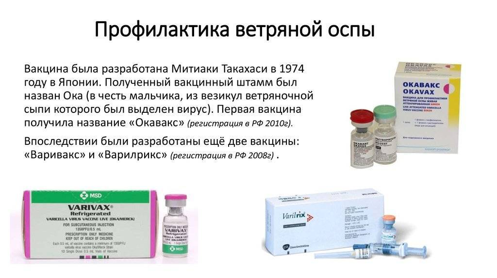 Вакцина от ветрянки детям - как называется