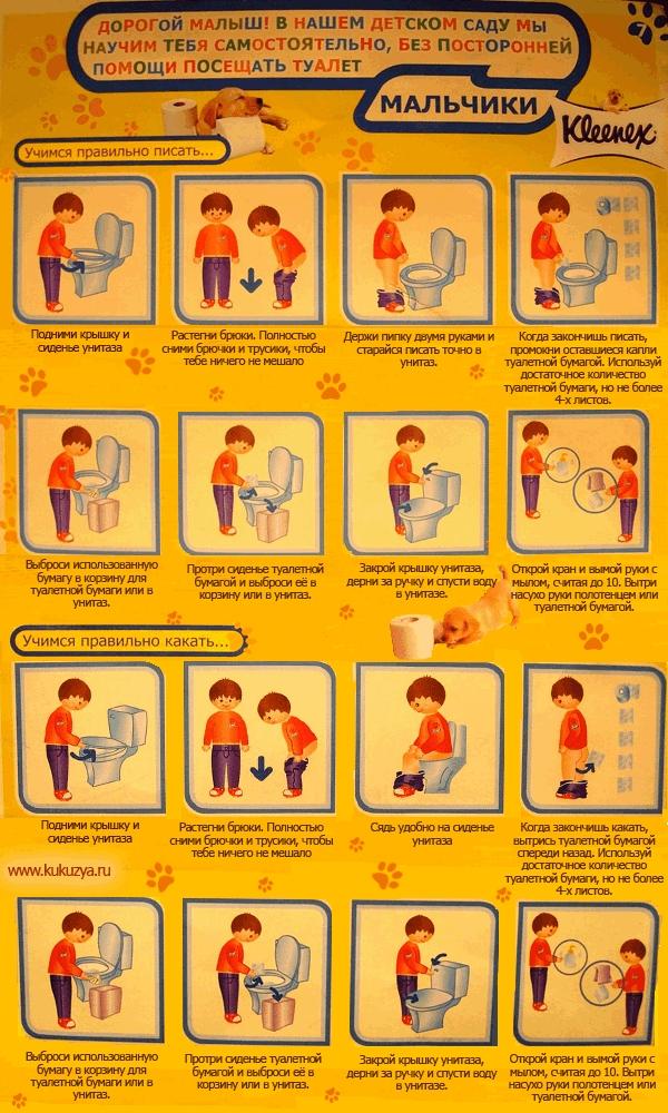 Как научить ребенка вытирать попу самому