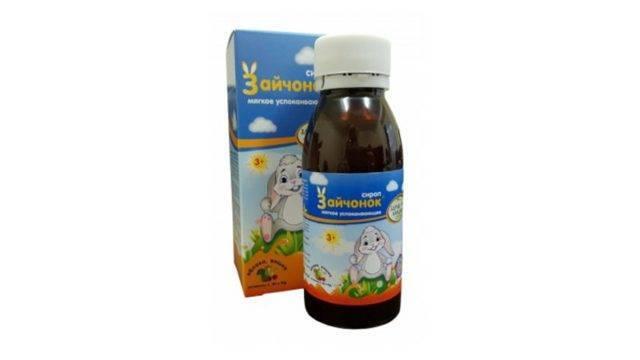 Сироп зайчонок: инструкция по применению успокоительных капель для детей