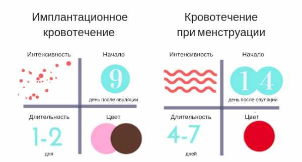 Кпричины появления кровянистых выделений после зачатия