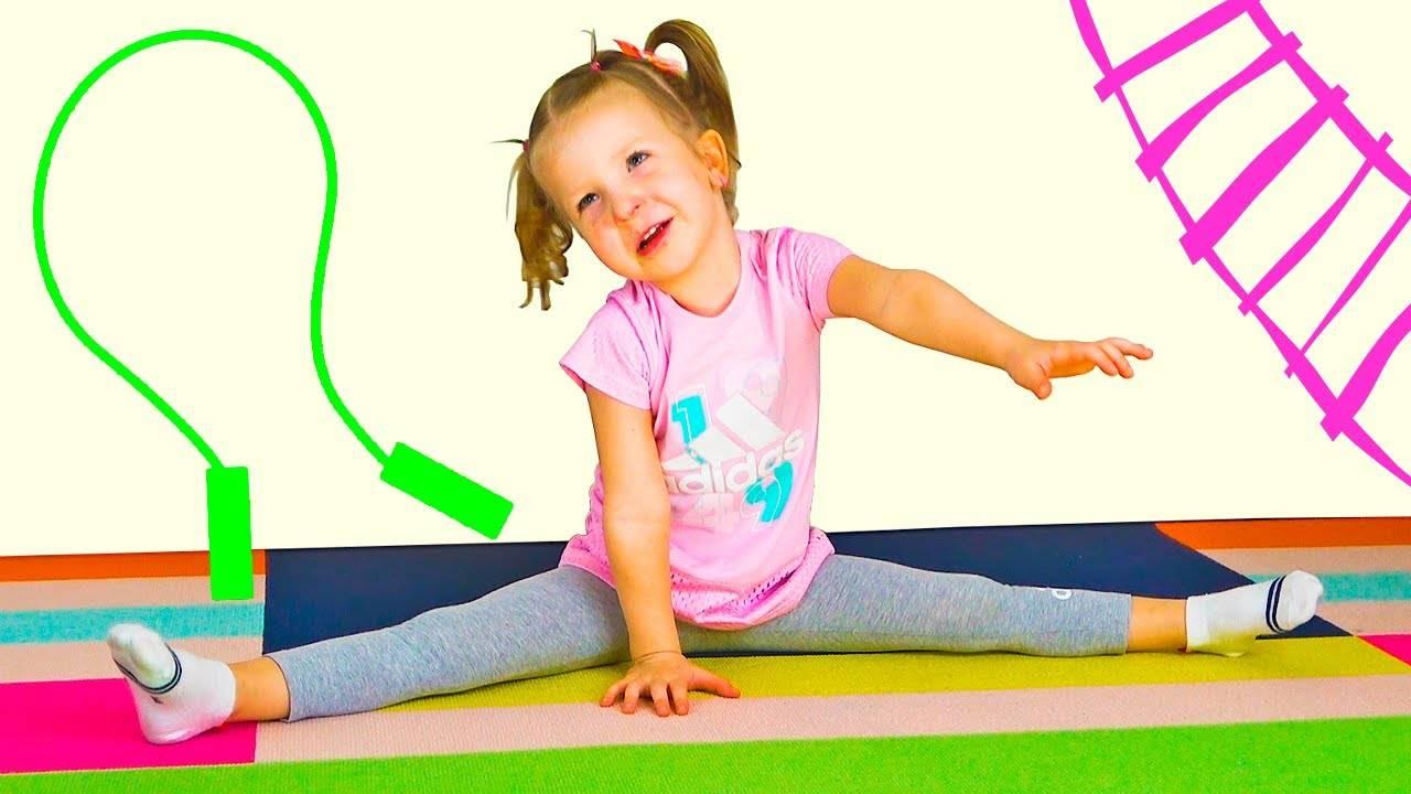 Зарядка для малышей в картинках. +Видео