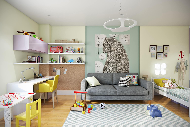 Дизайн детской комнаты: планировка, особенности, цвет