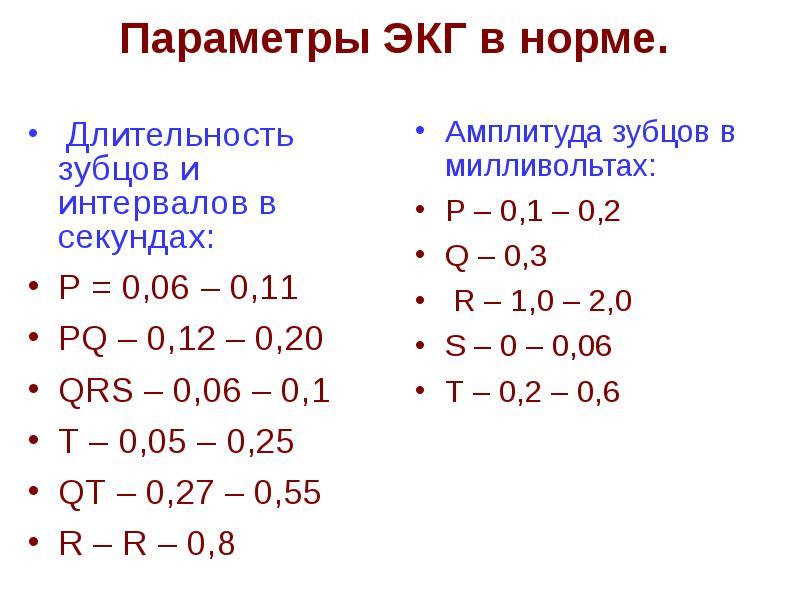 Экг — расшифровка, норма показателей, таблица у взрослых и детей