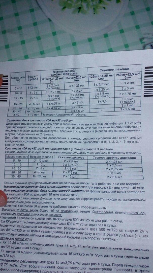 Суспензия «амоксиклав» для детей: инструкция по применению антибиотика, дозировка при 250 мг, цена на детский сироп, отзывы