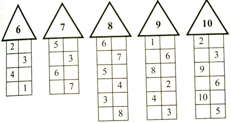 Состав числа до 20 - распечатать числовую таблицу
