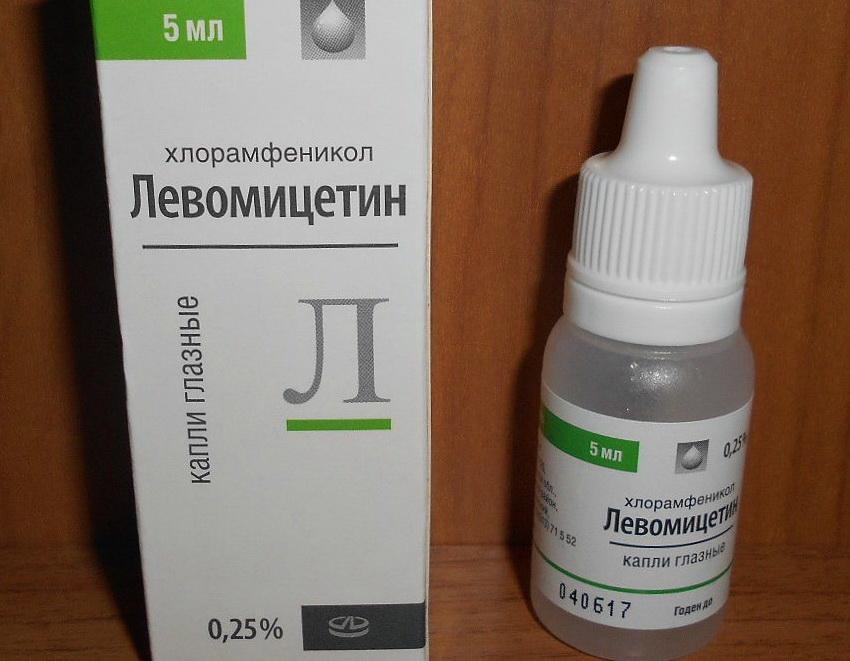 Глазные капли левомицетин для детей: инструкция по применению