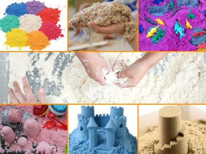 10 рецептов приготовления кинетического песка дома