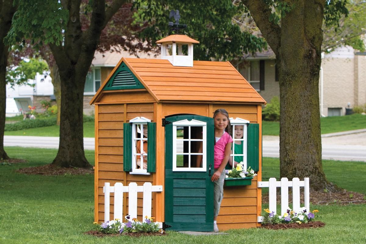 Уличный детский домик для игр своими руками для дачи и двора