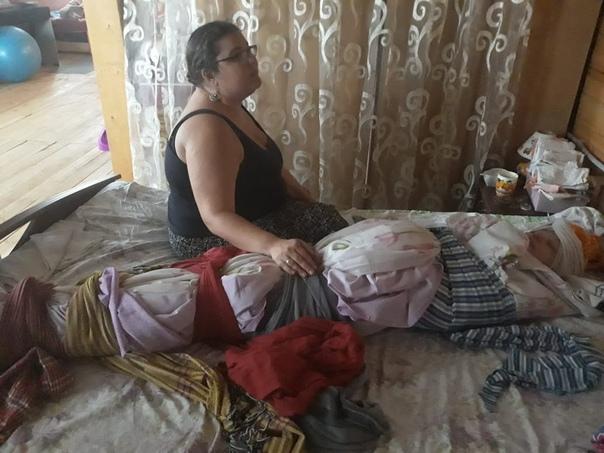 Техника послеродового пеленания женщины