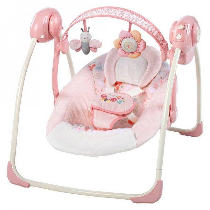 Качели для новорожденных электронные: с какого возраста можно, рейтинг лучших