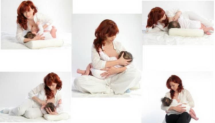 Основные позы для кормления грудью новорожденного ребенка