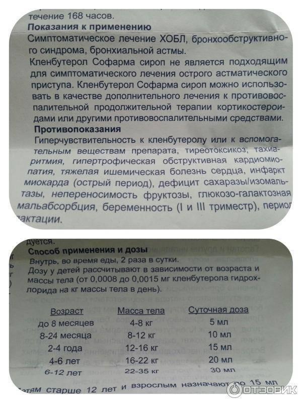"""Инструкция по применению сиропа """"Кленбутерол"""" от кашля у детей до 3 лет и старше"""