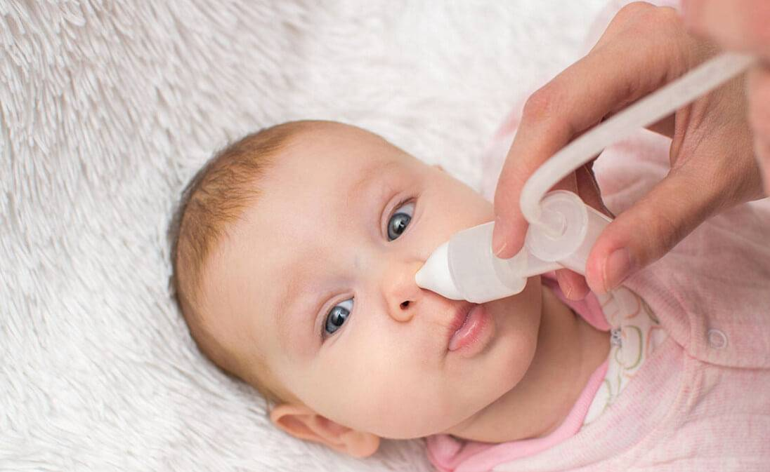 Заложенность носа у грудничка без соплей: причины и лечение