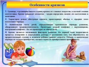 Календарь возрастных кризисов у ребёнка