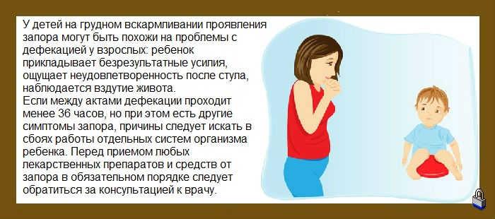 Запор у грудничка до 1 года