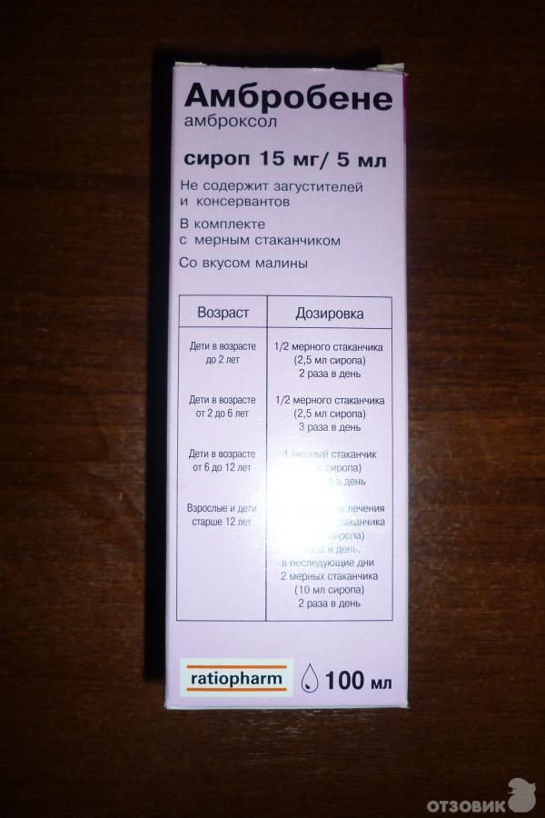 Сироп амбробене для детей – что нужно знать о препарате. инструкция и отзывы