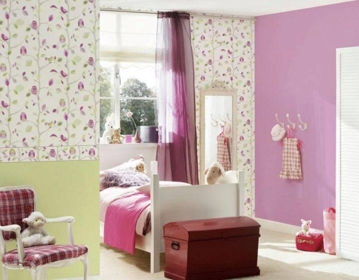 Обои в детскую комнату для мальчиков и девочек: варианты дизайна