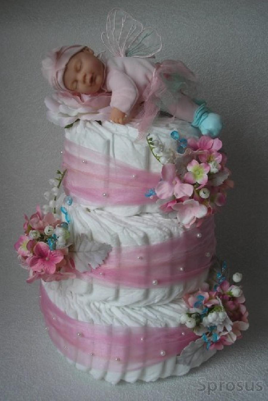Букет из памперсов — отличный подарок для новорожденных   babynappy
